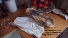 When buying in bulk, bring your own homemade reusable bags to the shop. Make them in different sizes depending on your needs