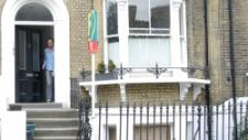 Andrew's duplex apartment is in a lovely 100 year old house in London