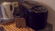 Pedro sometimes makes his own bread the old fashioned way, but the bread machine makes it less time consuming