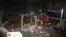 For the 2 years, most of Denis' meals were made from local foods, cooked in a low tech way