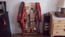 Shabnam found this rack on the streets and transformed into a jewellery stand, that's upcycling