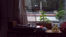 Steven's home has beautiful old second hand items such as the record player, and to its right, a bizarre gadget