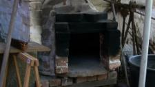 A test version of a wood oven in the garden for the bread baking initiative