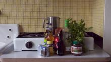 Most of the food in the house is organic or local. Carolien often shops in a close by bio shop An-Dijve