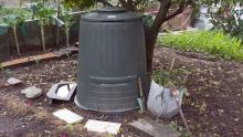 The family composted since Vera was little by digging an area for organic waste in the garden. Now they have this compost