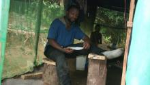 When Denis spent 2 years in the rainforest, conducting his research, his footprint was extremely low