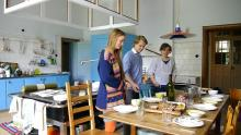 The kitchen is where people come together and connect. Everyone helps out and makes vegetarian, local and sustainable food
